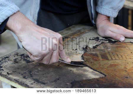 manual work - furniture renovation - creative hobby