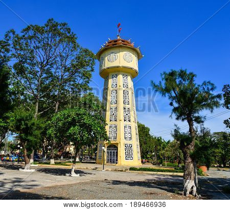 Water Tower Located In Phan Thiet, Vietnam
