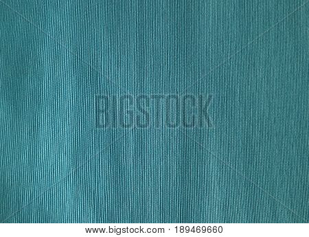 Fabric Texture Close Up of Blue Cotton Pattern Background with Copy Space for Text Decoration.