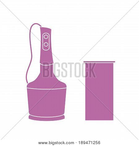 Stylized Icon Of A Colored Blender