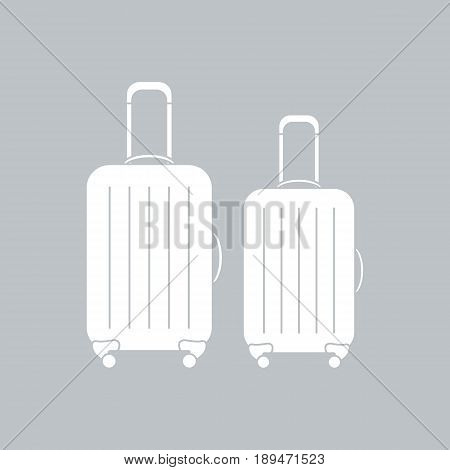 Vector Illustration Of Suitcases For Travel. Summer Time, Vacation.