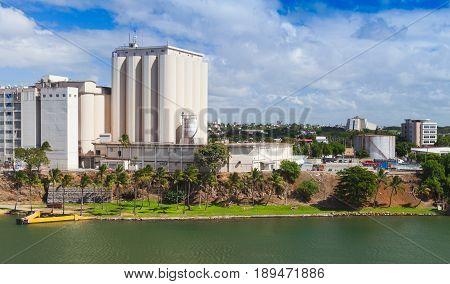 Industrial Cityscape Of Santo Domingo