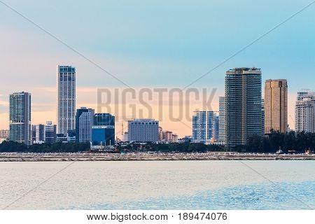 View of metropolitan George Town city, Penang