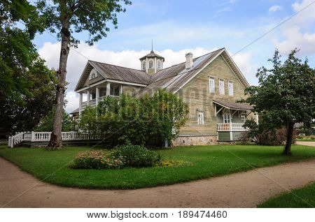 Manor house of Peter Abramovich and Benjamin Petrovich Hannibal in Petrovskoye village. State Museum-reserve of A. S. Pushkin Pskov Region Russia.