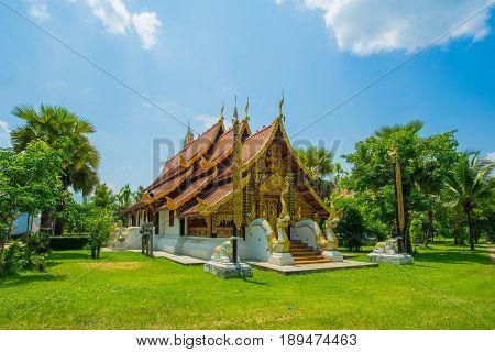 Sri Don Chai first temple in Pai district Thailand