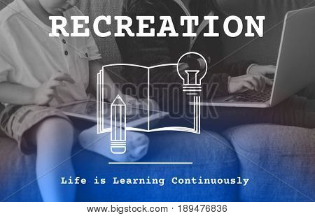 E-learning kids hobby recreation with technology