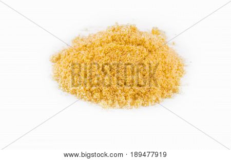 curry powder on the white background .