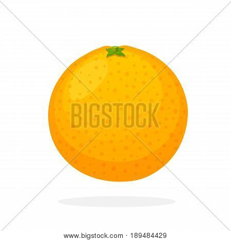 Vector illustration in flat style. Whole orange. Healthy vegetarian food. Citrus fruits. Decoration for greeting cards, prints for clothes, posters, menus vector, flat, orange, citrus, fruit, food, cartoon, isolated, illustration, print, nutrition, health