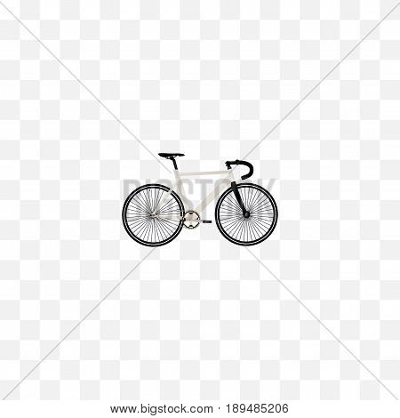 Realistic Track Cycle Element. Vector Illustration Of Realistic Road Velocity Isolated On Clean Background. Can Be Used As Track, Bike And Bicycle Symbols.