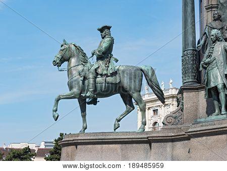 Detail of Empress Maria Theresia monument, Vienna