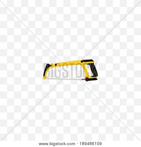 Realistic Hacksaw Element. Vector Illustration Of Realistic Arm-Saw Isolated On Clean Background. Can Be Used As Arm, Saw And Hacksaw Symbols.