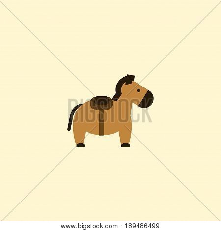 Flat Horse Element. Vector Illustration Of Flat Pony Isolated On Clean Background. Can Be Used As Horse, Pony And Animal Symbols.
