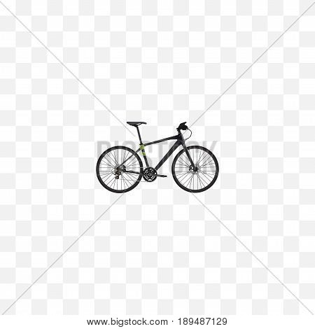 Realistic Training Vehicle Element. Vector Illustration Of Realistic Hybrid Velocipede Isolated On Clean Background. Can Be Used As Hybrid, Training And Bicycle Symbols.