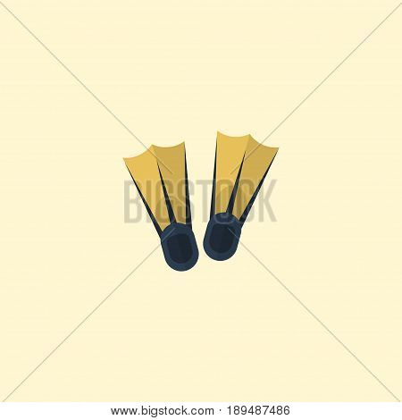 Flat Flippers Element. Vector Illustration Of Flat Swimming  Isolated On Clean Background. Can Be Used As Sea, Flippers And Swimming Symbols.