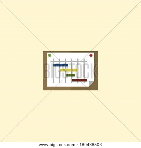 Flat Planning Element. Vector Illustration Of Flat Schedule  Isolated On Clean Background. Can Be Used As Schedule, Graph And Scheme Symbols.