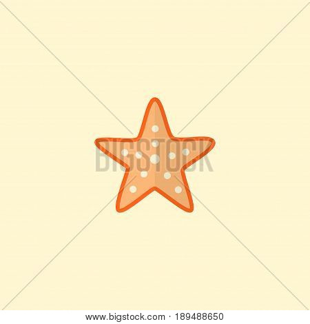 Flat Starfish Element. Vector Illustration Of Flat Sea Star Isolated On Clean Background. Can Be Used As Sea, Star And Starfish Symbols.