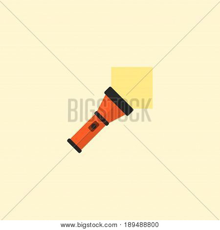 Flat Pocket Torch Element. Vector Illustration Of Flat Lighter Isolated On Clean Background. Can Be Used As Lighter, Pocket And Torch Symbols.