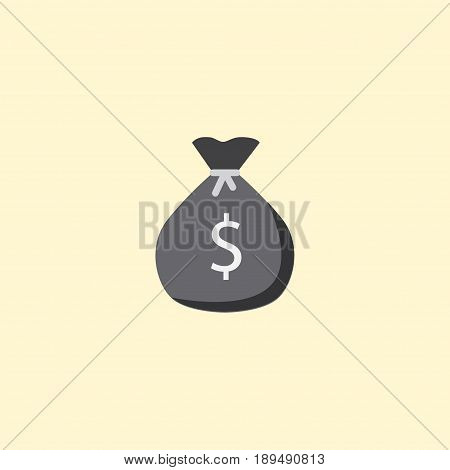 Flat Money Bag Element. Vector Illustration Of Flat Finance Sack Isolated On Clean Background. Can Be Used As Cash, Money And Sack Symbols.