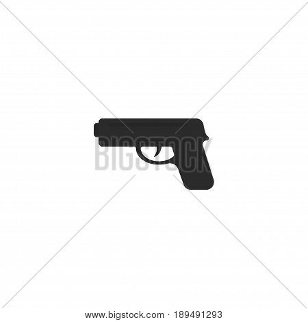 Flat Weapon Element. Vector Illustration Of Flat Gun  Isolated On Clean Background. Can Be Used As Gun, Weapon And Shot Symbols.
