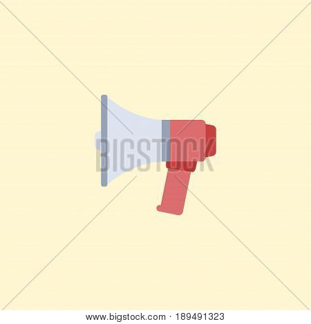 Flat Announcement Element. Vector Illustration Of Flat Loudspeaker Isolated On Clean Background. Can Be Used As Advertisement, Loudspeaker And Announcement Symbols.