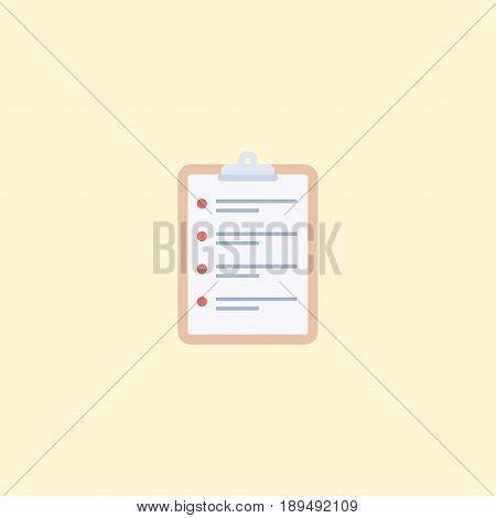 Flat Schedule Element. Vector Illustration Of Flat Task List Isolated On Clean Background. Can Be Used As Schedule, Task And List Symbols.