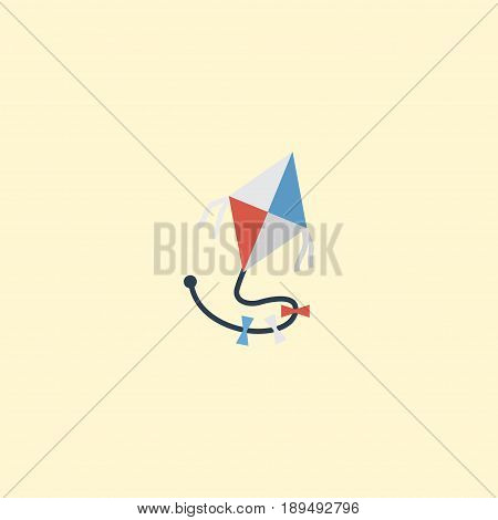 Flat Kite Element. Vector Illustration Of Flat Fly  Isolated On Clean Background. Can Be Used As Fly, Kite And Toy Symbols.