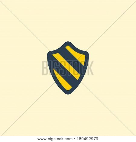 Flat Protection Element. Vector Illustration Of Flat Shield  Isolated On Clean Background. Can Be Used As Shield, Protection And Safe Symbols.