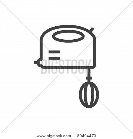 Isolted Blender Outline Symbol On Clean Background. Vector Mixer Element In Trendy Style.