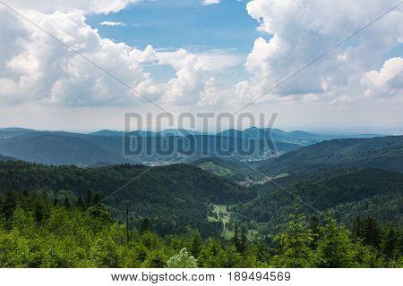 Schwarzwald Black Forest Landscape Wiesbach Rock Beautiful Overlook Mountaintop Trees Germany Europe