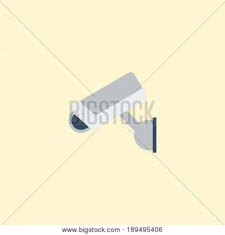 Flat Supervision Element. Vector Illustration Of Flat Camera  Isolated On Clean Background. Can Be Used As Camera, Security And Supervision Symbols.