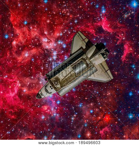 Space shuttle. Elements of this image furnished by NASA.