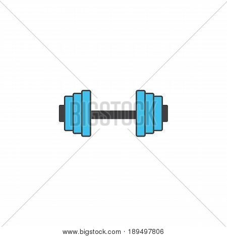 Dumbbel solid icon, gym tool, vector graphics, a colorful linear pattern on a white background, eps 10.