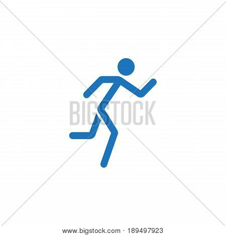 Running man solid icon, fast and fitness sport, vector graphics, a colorful linear pattern on a white background, eps 10.