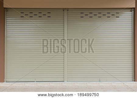 Aluminium steel metal roller shutter door, construction industry
