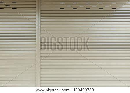 Aluminium steel metal roller shutter door, industry background