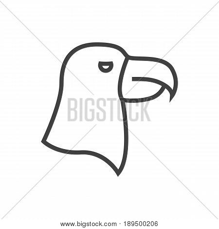 Isolted Aquila Outline Symbol On Clean Background. Vector Eagle Element In Trendy Style.