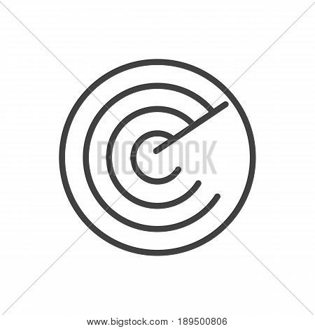 Isolted Radar Outline Symbol On Clean Background. Vector Detection Element In Trendy Style.
