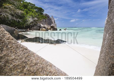 Anse Source D'argent, La Digue, Seychelles, Editorial
