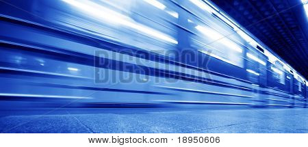 Underground train dynamic motion picture