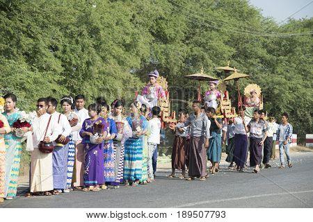 Shinbyu Or Novitiation Ceremony
