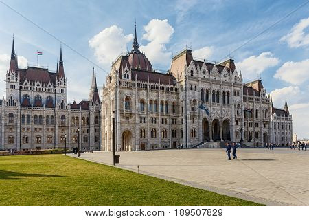 The Hungarian Parliament building is the main architectural landmark of Budapest