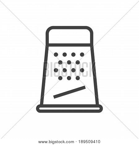 Isolted Kitchen Rasp Outline Symbol On Clean Background. Vector Grater  Element In Trendy Style.