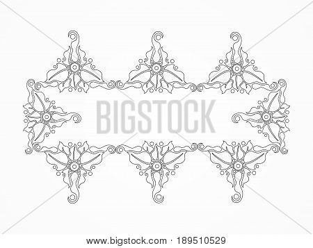 abstract artistic creative line floral border vector illustration