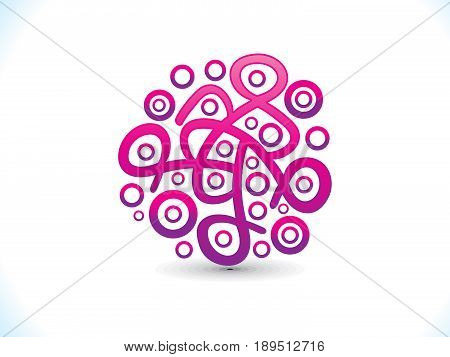 abstract artistic creative pink shape vector illustration
