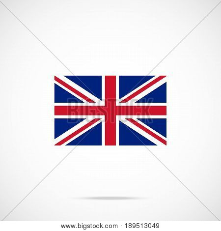 UK flag icon. British flag. United Kingdom, Union Jack concepts. Official color scheme. Premium quality. Vector illustration isolated on gradient background
