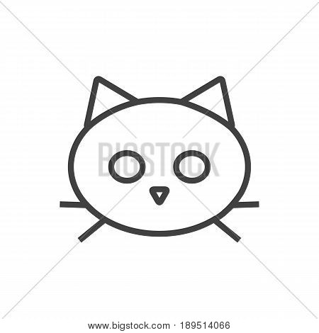 Isolted Tomcat Outline Symbol On Clean Background. Vector Cat Element In Trendy Style.