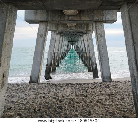 The underside of one of the many fishing piers in southwest Florida, very interesting in my opinion.