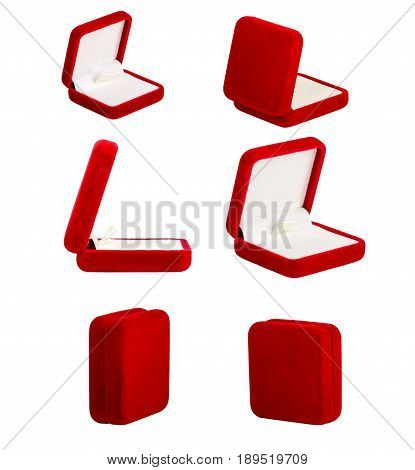 Red Jewelry Box Isolated