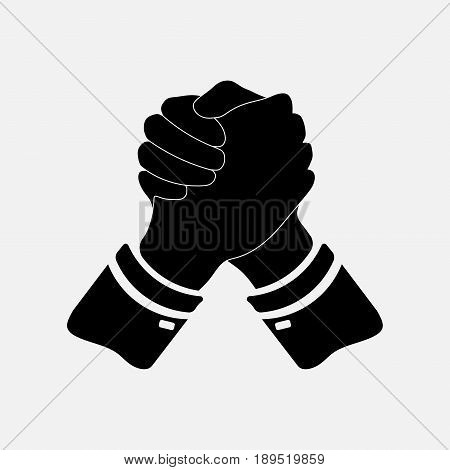 Icon handshake icon business finance business concept fully editable vector image