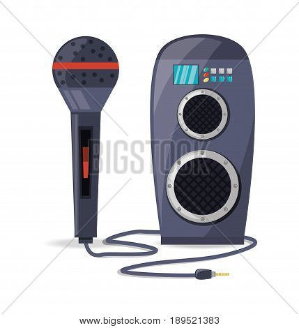 amplifier speaker and microphone concept music vector illustration